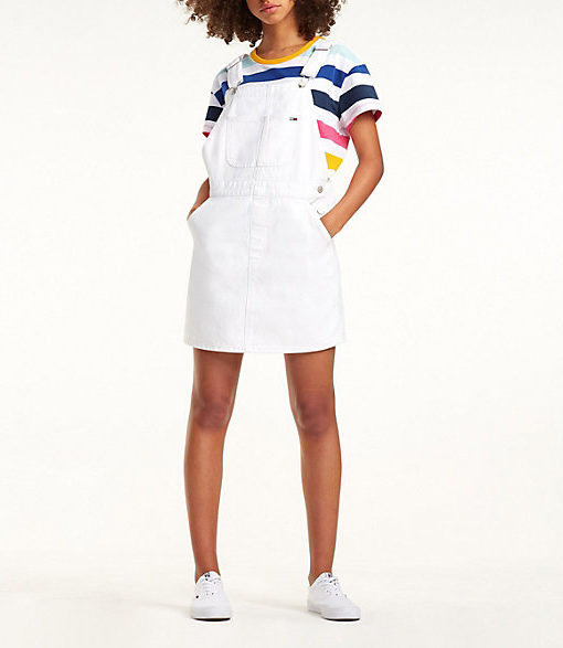 Tommy-Jeans-Dw0dw06326-Pure-Cotton-Dungaree-Dress-Optical-White-Rig