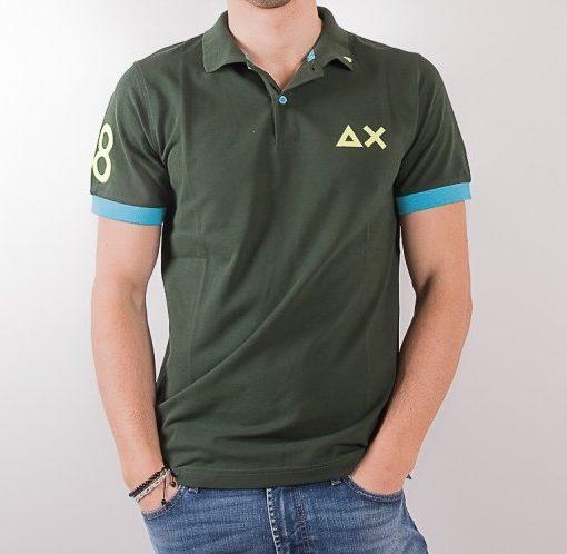 sun68-polo-logo-grande-a30116-verde-azzurro-e-giallo-fluo