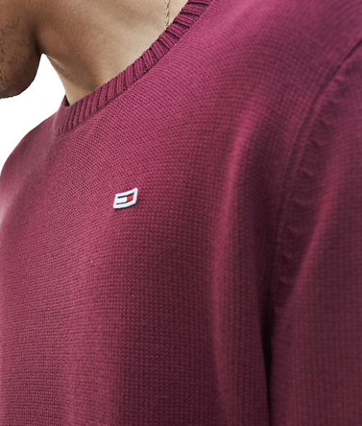 Tommy-Jeans-Classic-Fine-Knit-Jumper-Burgandy4
